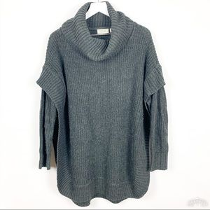RD Style | Oversized Apron Trim Poncho Sweater